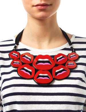 Yazbukey €220 - Red Plexiglass Le C'est Ahh Necklace http://bit.ly/1Cv7mkc