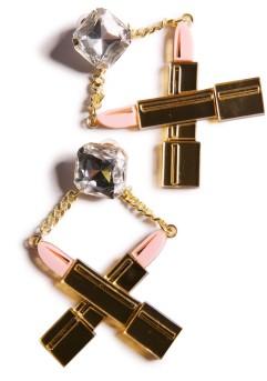 Dolls Kill €52.40 - Killah Lipstick Earrings http://bit.ly/1zJhFiv