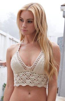 LA Hearts €44 - Crochet Halter Bikini Top http://bit.ly/1DpmWyH