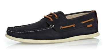 Navy Leather Contrast Lace Boat Shoes €60 http://bit.ly/1xc8qYK