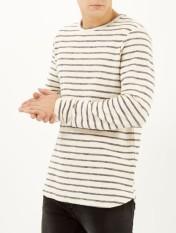 Ecru Stripe Loopback Longsleeve Top €12 http://bit.ly/1DL9aXa (limited stock)