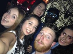 "Our ""Oscars selfie"": (L-R clockwise) Clara, Mei Ling, Timi, Jessika, Marcus & myself"