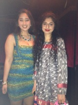 Myself and Manal of So Polished Ireland, after winning Best Dressed!