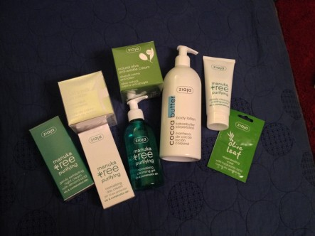 All the goodies (bar the Men's product, my brother swiped that instantly!)