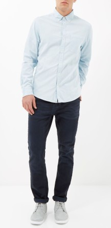 Light Wash Bleached Denim Shirt, €40 http://bit.ly/1C8LwSq // Dark Wash Dean Straight Jeans €55 http://bit.ly/1PYBMxc // Grey Suede Chukka Boots €80 http://bit.ly/1AneShi
