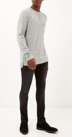 Grey Marl Longsleeve Crew Jumper, €20 http://bit.ly/1Ez8Y8A // Black Wash Eddy Skiny Stretch Jeans, €45 http://bit.ly/1ECCQ6r // Black Suede Lace Up Brogues, €53 http://bit.ly/1CHnGzt
