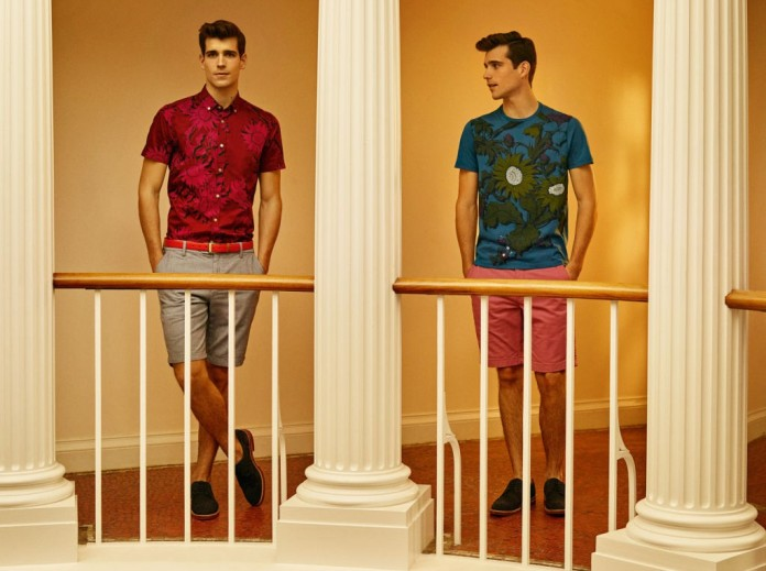 Flowley Graphic Floral Shirt, €105 http://bit.ly/1LEfTqa (also available in Teal) // Reyn Oxford Shorts, €90 http://bit.ly/1LEgiJf (available in Mid Blue or Red) // Heanor Graphic Flort T-shirt, €50 http://bit.ly/1bkCIyW // Navy Archerr Suede Brogues, €155 http://bit.ly/1HdYnCA (also available in Tan)
