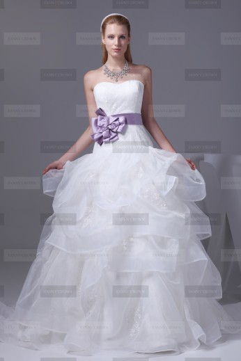 Fanny Crown €419 - Beautiful Sweetheart Long White Wedding Dress http://bit.ly/1BVTC0F