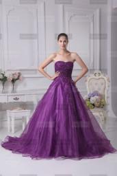 Fanny Crown €419 - Simple Sweetheart Long Grape Wedding Dress http://bit.ly/1MOwHpB