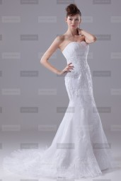 Fanny Crown €419 - Pretty Sweetheart Long White Wedding Dress http://bit.ly/1Lvy9Ss