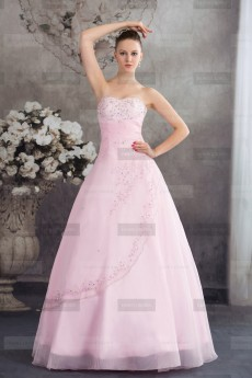 Fanny Crown €409 - Simple Sweetheart Long Candy Pink Quinceanera Dress http://bit.ly/1CwzAft