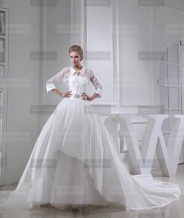 Fanny Crown €449 - Simple High neck Long White Wedding Dress http://bit.ly/1FE0ml7