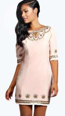 Boohoo €54 - Boutique Ayah Heavily Embellished Shift Dress http://bit.ly/1HjddYX