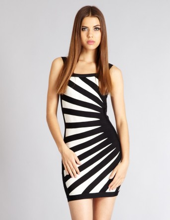 Talar @ Aftershock London €117.39 - Black and White Contrast Bodycon Dress http://bit.ly/1zpm1xo