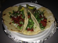 Tacos from a food truck on Riverside