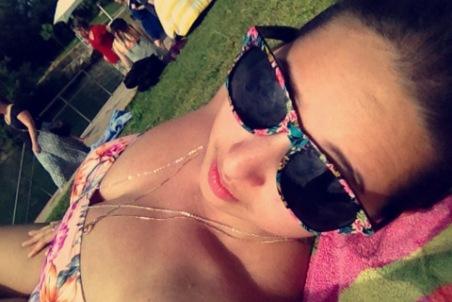 Sunbathing at Barton Springs