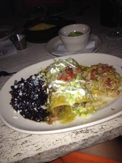 Z'Tejas - Green Chile Barbacoa Enchiladas