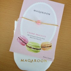 Maqaroon €20 - Tiny Rose Macaron Bracelet http://bit.ly/1EoBJtk