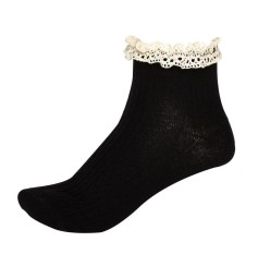 River Island 3 for €10/€5 each - Black & Cream Cable Knit Frilly Ankle Socks http://bit.ly/1bVP8NE