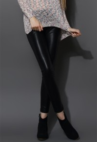 Chicwish €34 - Faux Leather Leggings http://bit.ly/1GVIw9R