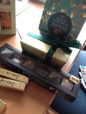 Marks & Spencer Crunchy Pecan Brittle, Leonidas chocolates, Marks & Spencer trio of caramel chocolates