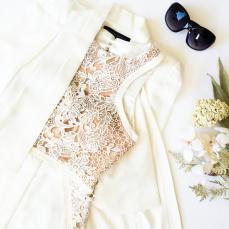 Forever Unique €299.55/£220 - Creek Ivory Lace Fitted Dress http://en.pickture.com/pick/2389103