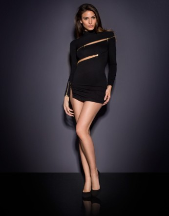 Agent Provocateur €475 - Maxene Zip Dress http://bit.ly/1Kq0988