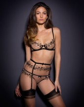 Agent Provocateur €200 - Lindie in Nude/Black http://bit.ly/1MrEfmY