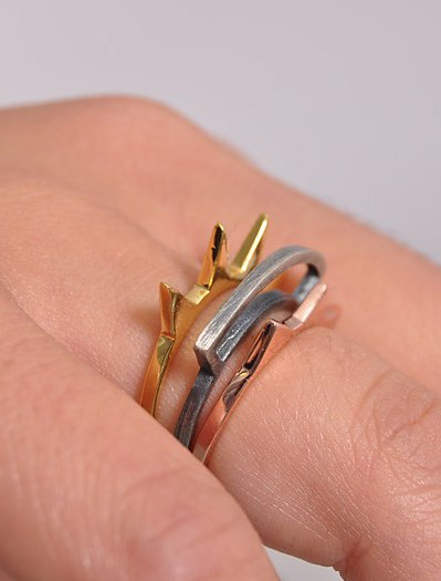 Obey €31/£23 - Spike Stacking Rings http://en.pickture.com/pick/2394152