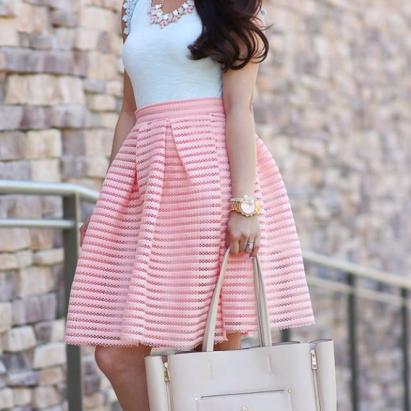 Chicwish €35.90/£26.53 - Glam Stripes Cutout Midi Skirt http://en.pickture.com/pick/2372332