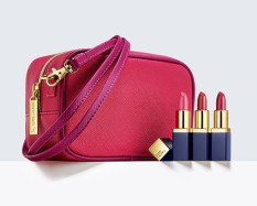 Estée Lauder €38/£28 - Evelyn Lauder and Elizabeth Hurley Dream Pink Collection http://bit.ly/1LS4n9u