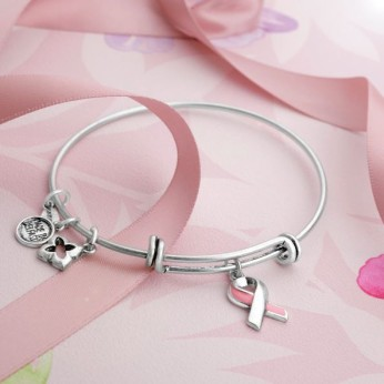 Karma Jewellery €25.75/£18.50 - Pretty in Pink Bangle http://bit.ly/1KtW65V