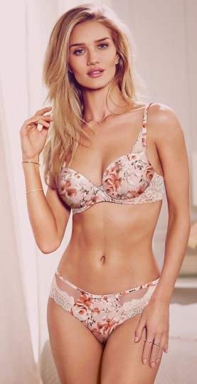 Rosie for Autograph Marks & Spencer €35 - Breast Cancer Now Silk & Floral Padded Bra http://bit.ly/1POUjAy €17 - Silk Rose Print High Leg Knickers http://bit.ly/1LzT6ZC