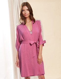 Rosie for Autograph Marks & Spencer €39 - Breast Cancer Now Lace Trim Belted Wrap http://bit.ly/1LVQLGH