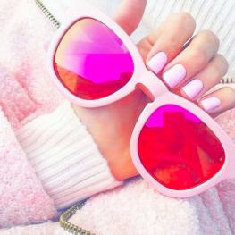 Wildfox €211.85/£157 - Kitten Frame Pastel Pink Sunglasses http://en.pickture.com/pick/2388528