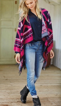 Superdry @ Next €68 - Navy And Pink Shrug http://bit.ly/1LRHLRU