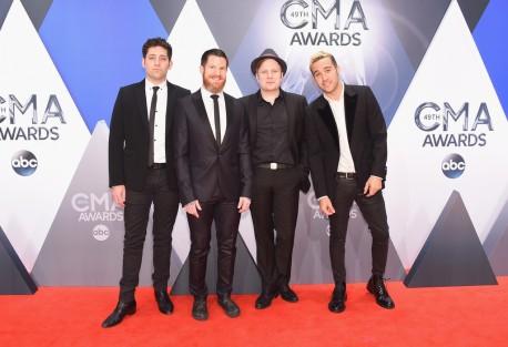Joe Trohman, Andy Hurley, Patrick Stump and Pete Wentz of Fall Out Boy