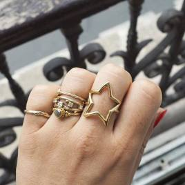 Chupi €129 - One In A Million Star Ring in Gold http://bit.ly/1MeCDHq