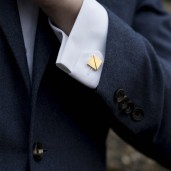 Alice Made This €173 - Benedict & Arnold Gold Cufflinks http://bit.ly/1Ulfzx0