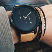 MVMT Watch €122.80 - Chrono Black & Tan Leather Watch http://bit.ly/1QmuOXE