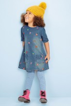 Next €21 - Embroidered Denim Dress http://bit.ly/1I8mzfv