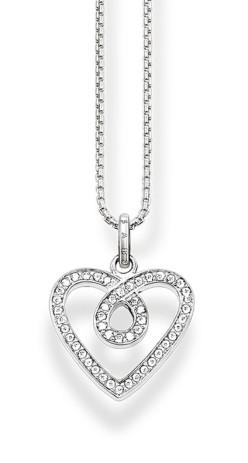 Thomas Sabo €98 - Pavé Eternal Love Necklace http://bit.ly/21J6O52