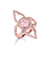 Thomas Sabo €279 - Rose Gold Zirconia & Pink Stone Ring http://bit.ly/1LYfclq