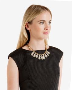 Ted Baker €125 - Orah Pearl Droplet Crystal Necklace http://bit.ly/1OvLcze
