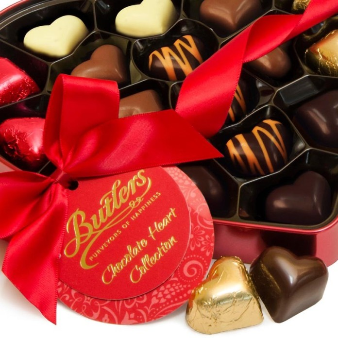 Butlers €14 - Valentine's Heart Chocolates http://bit.ly/1o8WJyP