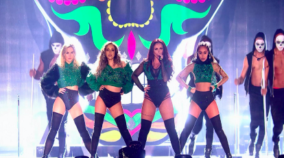 (L-R) Perrie Edwards, Jade Thirlwall, Jesy Nelson and Leigh-Anne Pinnock of Little Mix