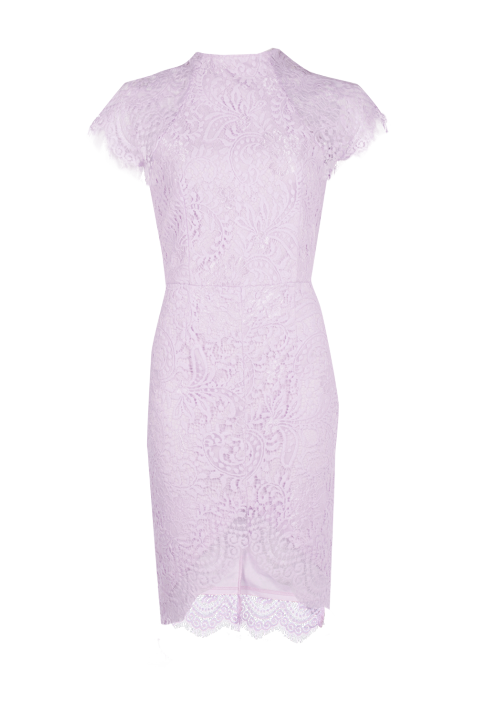 c83f61202128 boohoo.com Boutique Leah Eyelash Lace Curved Hem Bodycon Dress €41 violet
