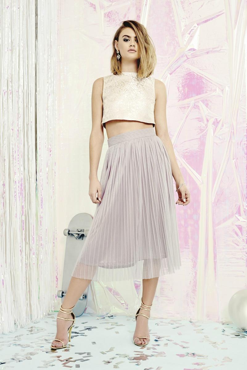 boohoo boutique may jacquard top midi skirt co ord set