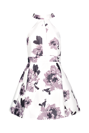 Boohoo €30 - Sarah High Neck Satin Floral Skater Dress http://www.boohoo.com/new-in/sarah-high-neck-satin-floral-skater-dress/invt/dzz85922