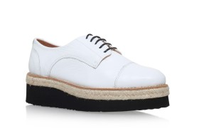 Carvela €150 - Lila White Flatform Brogue Shoes http://bit.ly/1WvmSmw